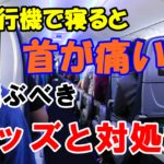 飛行機で長時間寝ると首が痛い!!おすすめのネックピローは!?